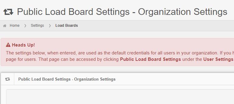 Add or Edit Public Load Board Settings - InMotion Global, Inc